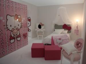 Dormitorio para niñas de Hello Kitty