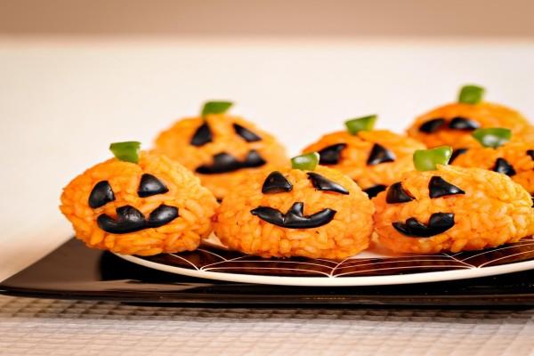 """Calabacitas de arroz para """"Halloween"""""""