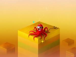 Un pulpo conectado a un videojuego