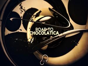 """Postal: Camino a Chocolatica """"El chocolate es felicidad"""""""