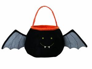 Postal: Murciélago para recoger caramelos en Halloween