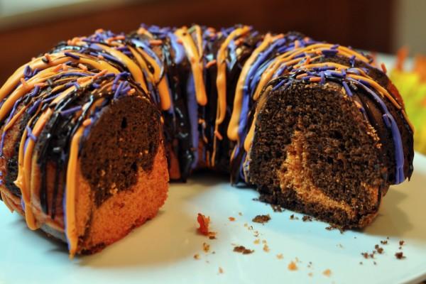 Bund cake de chocolate y calabaza