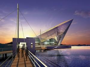 Proyecto arquitectónico junto al mar