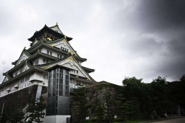 El gran castillo de Osaka (Japón)