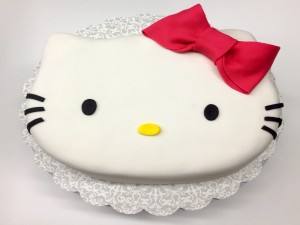 Tarta de fondant Hello Kitty