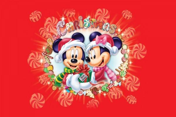 """Mickey y Minnie te desean """"Feliz Navidad"""""""