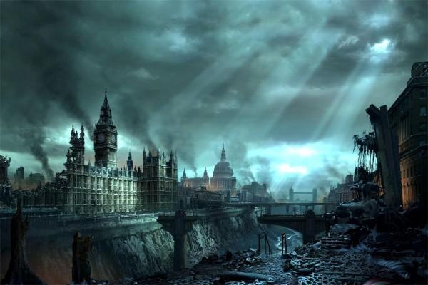 Ciudad de Londres destruida