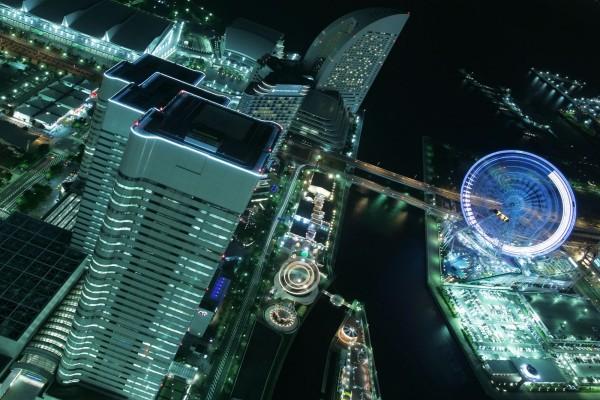 Vista aéra de Yokohama (Japón)