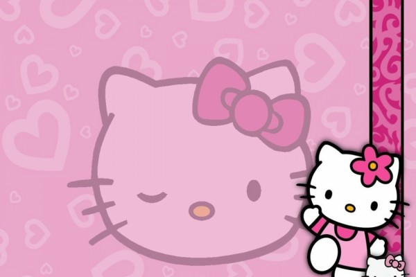 Hello Kitty te saluda
