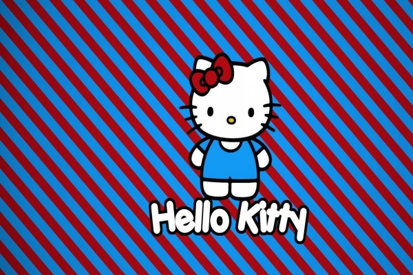 Hello Kitty vestida de azul