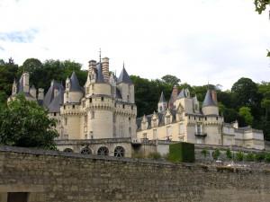Postal: El gran castillo de Ussé (Francia)