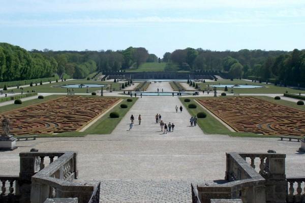 Jardines del palacio de Vaux-le-Vicomte (Francia)