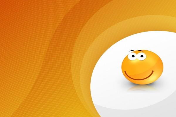 Cara naranja sonriente