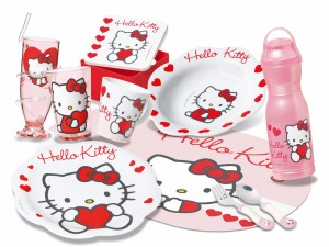 Menaje infantil de Hello Kitty