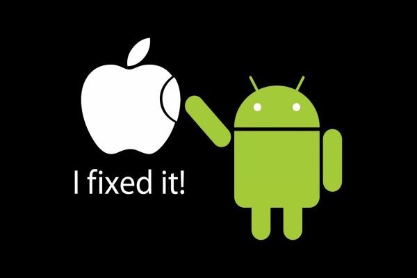 Android arregló el logo de Apple