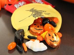 Chocolatinas y caramelos para Halloween