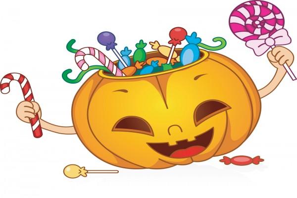 "Divertida calabaza con caramelos para ""Halloween"""