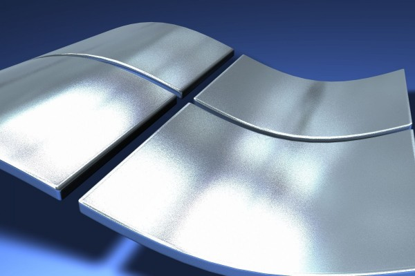 Logo plateado de Windows