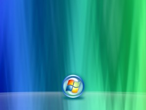 Logo de Windows en un fondo de dos colores