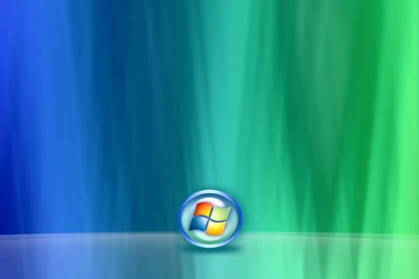 Logo de Windows en un fondo de dos colores