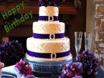 Gran tarta para celebrar un cumpleaños