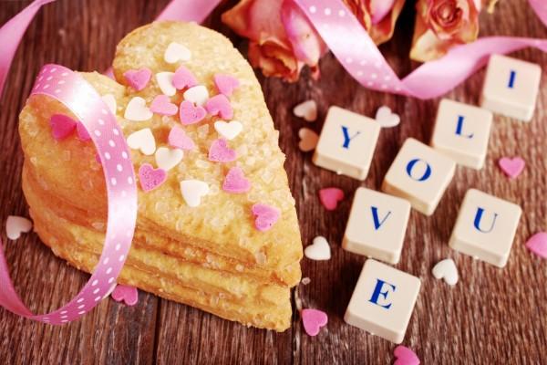 Galletas de corazón con mucho amor