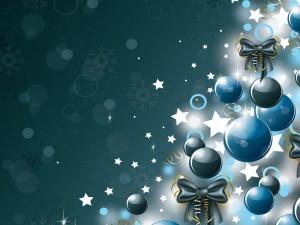 Postal con decoración para Navidad y Año Nuevo