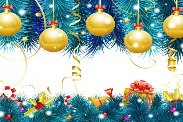 Imagen con adornos decorativos para las fiestas de Navidad