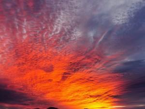 Postal: Espectacular puesta de sol