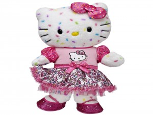 Un bonito peluche de Hello Kitty