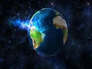 América del Sur en la Tierra vistas desde el espacio