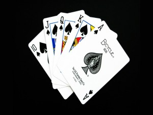 Postal: Escalera real (royal flush)