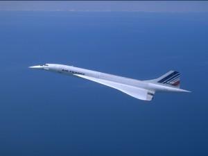 Postal: Concorde de Air France en vuelo
