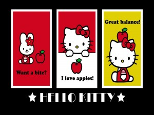 Hello Kitty ama las manzanas