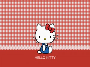 Postal: Hello Kitty sentada