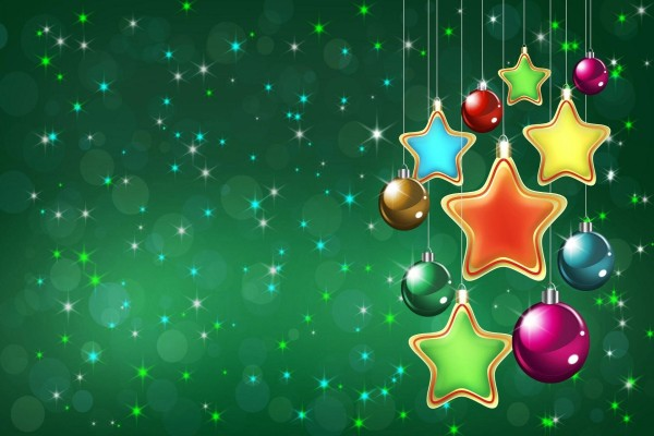 Fondo verde con motivos navideños
