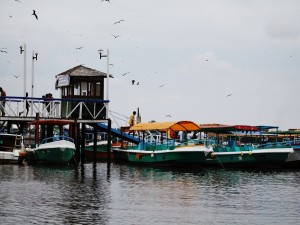Embarcaciones en Puerto Pizarro (Perú)