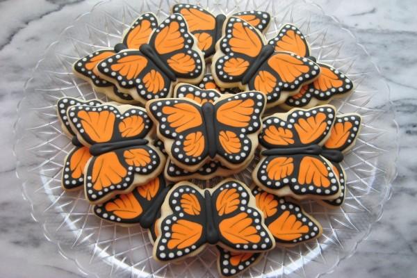 Galletas de mariposa Monarca