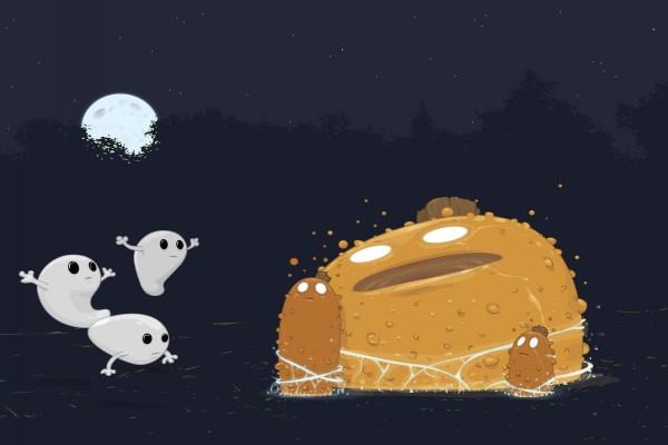Fantasmas y monstruos en Halloween