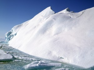 Postal: Nieve sobre un iceberg
