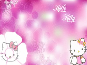 Hello Kitty con un lazo musical