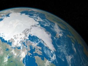 Zona fría de la Tierra vista desde el espacio