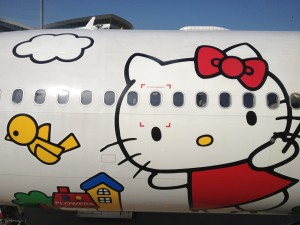 Hello Kitty Jet visto de cerca
