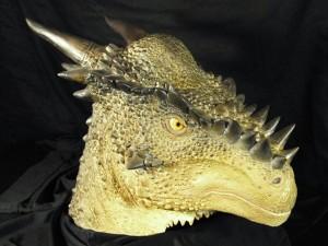 Cabeza de un dinosaurio