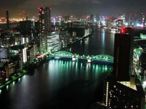 Postal: Noche en Tokio