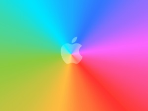 Apple con bonitos colores