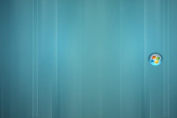 Pequeño logo de Windows en un fondo azulado