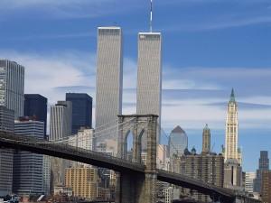 Postal: Imagen de Nueva York con las Torres Gemelas