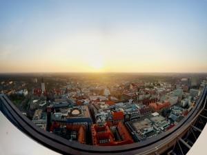 Vistas de la ciudad al amanecer