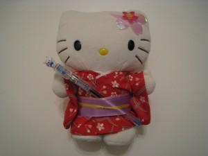 Postal: Muñeca Hello Kitty con kimono